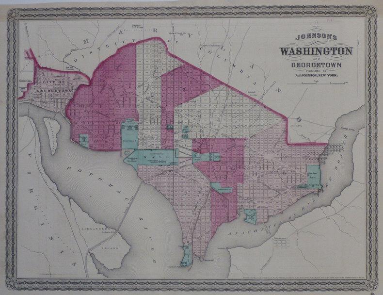 Johnson's Washington and Georgetown.. JOHNSON (Alvin Jewett);
