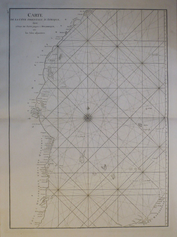 [KENYA/TANZANIE/MOZAMBIQUE] Carte de la côte orientale d'Afrique, depuis l'isle de Patte jusques à Mocambique, avec les isles adjacentes.. APRES de ...
