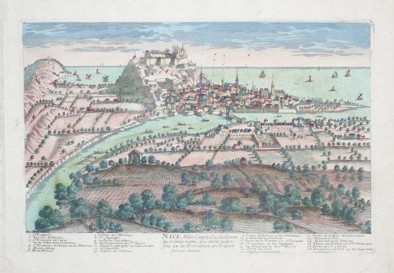 Nice, ville capitale du comté de même nom, qui étoit autrefois de la Provence en France.. AVELINE (Pierre);