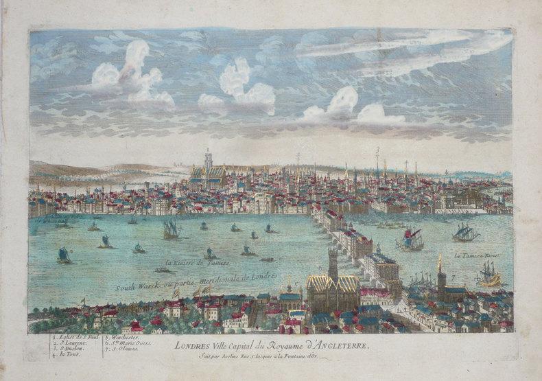 Londres ville capital du royaume d'Angleterre.. AVELINE (Pierre);