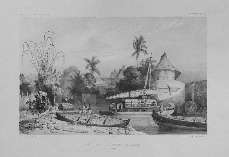 [JAVA] Site sur les bords du canal de Samarang (Ile Java).. DUMONT D'URVILLE (Jules-Sébastien-César);LE BRETON (Louis);
