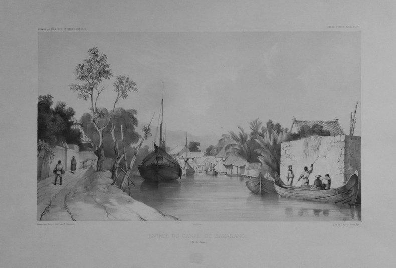[JAVA] Entrée du canal de Samarang (Ile de Java).. DUMONT D'URVILLE (Jules-Sébastien-César);GOUPIL (Ernest);