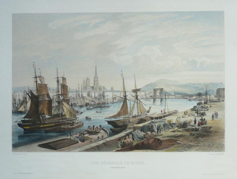 Vue générale de Rouen prise du quai St. Sever.. ARNOUT (Jules);
