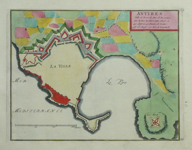 Antibes, ville et port de mer de Provence sur la mer Méditerranée.. FER (Nicolas de);