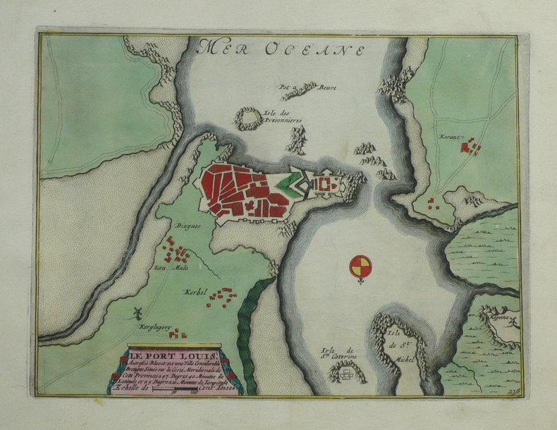 Le Port Louis autrefois Blavet est une ville considérable de Bretagne, située sur la coste méridionale de cette provinces.. FER (Nicolas de);