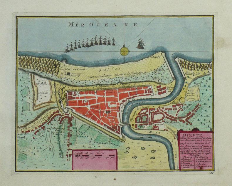 Dieppe ville de Normandie au Pays de Caux.. FER (Nicolas de);