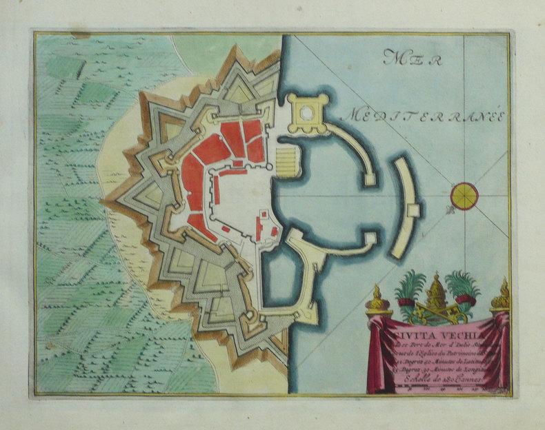 Civita Vechia ville et port de mer d'Italie.. FER (Nicolas de);