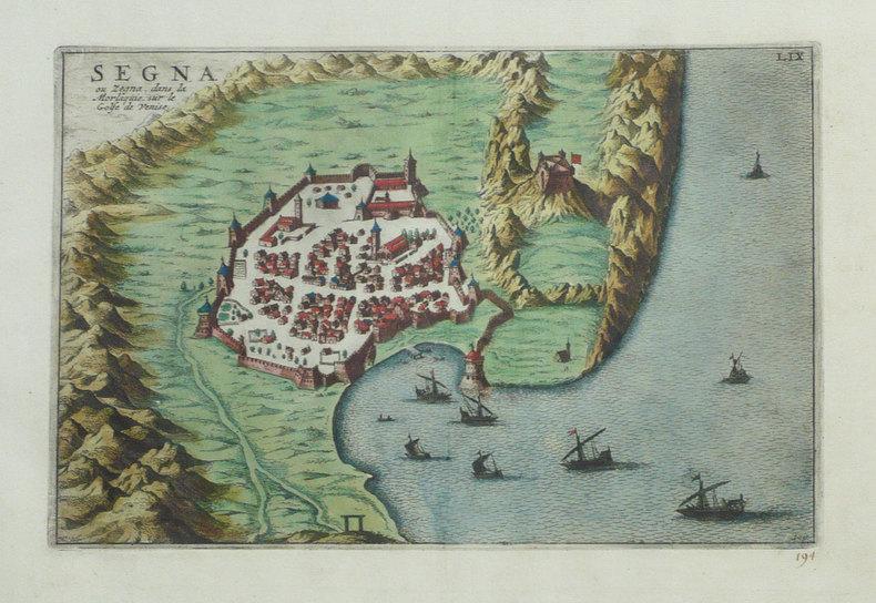 [CROATIE] Segna ou Zegna, dans la Morlaquie, sur le golfe de Venise.. FER (Nicolas de);