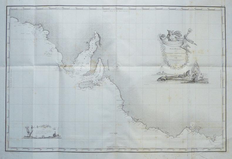 Carte générale de la Terre Napoléon (à la Nouvelle Hollande). Rédigée d'après les travaux exécutés à bord de la corvette le Géographe et de la ...