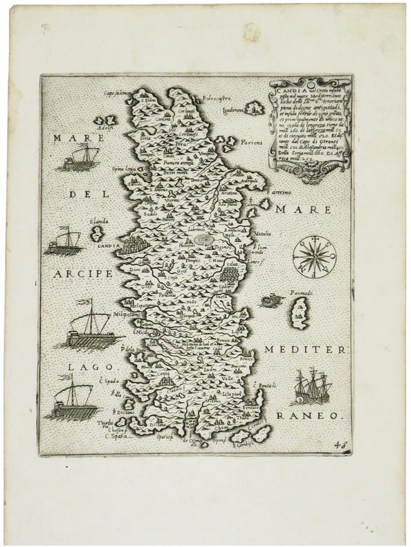 [CRETE] Candia vel Creta insula.. CAMOCIO (Giovanni Francesco).