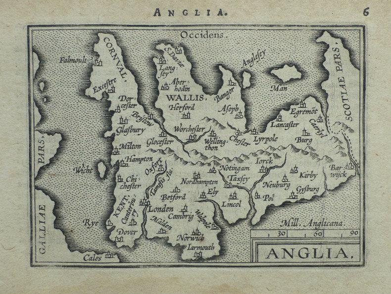 Anglia.. ORTELIUS (Abraham);
