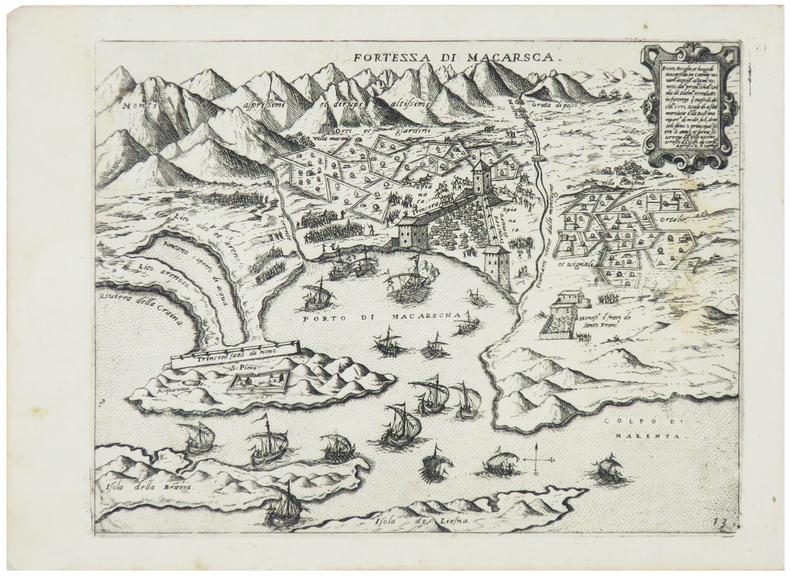 [CROATIE] Fortezza di Macarsca.. CAMOCIO (Giovanni Francesco).