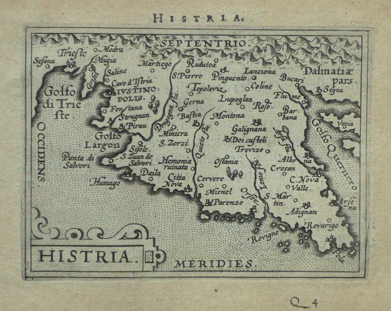 [CROATIE] Histria.. ORTELIUS (Abraham);