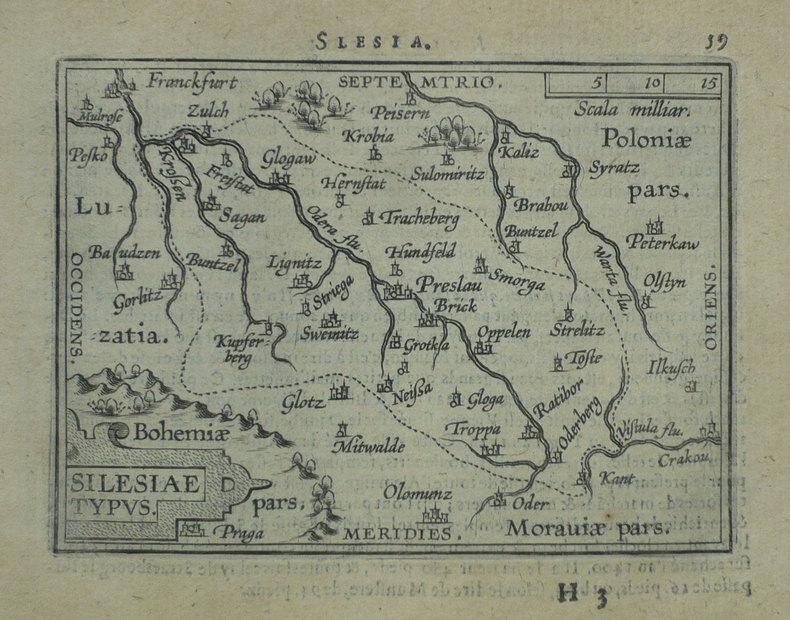 Silesiae typus.. ORTELIUS (Abraham);
