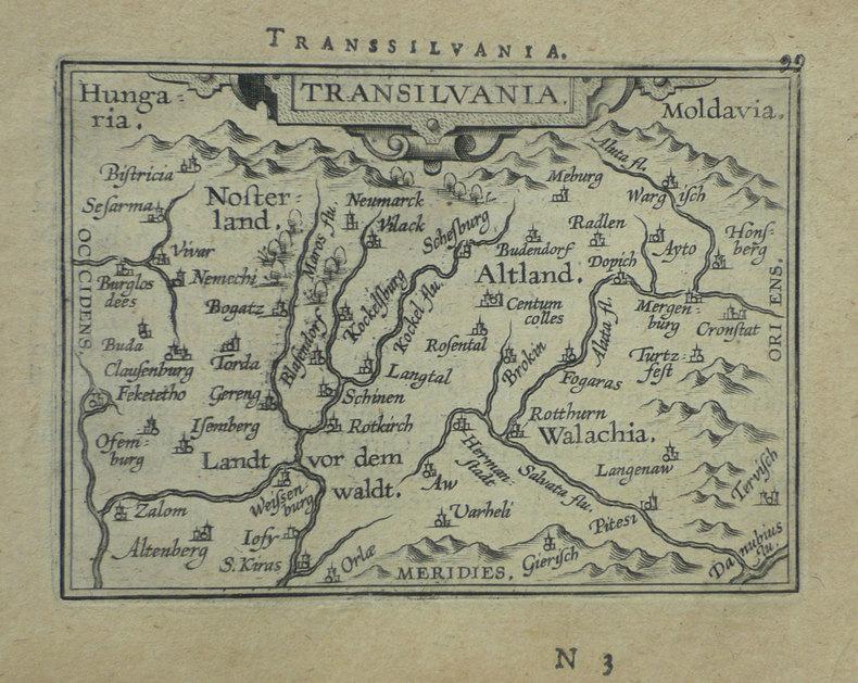 [ROUMANIE] Transilvania.. ORTELIUS (Abraham);