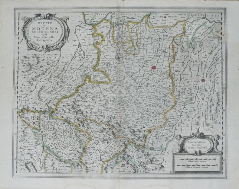 [MODENE] Ducato di Modena Regio et Carpi col dominio della Carfagnana.. JANSSON (Joannes);