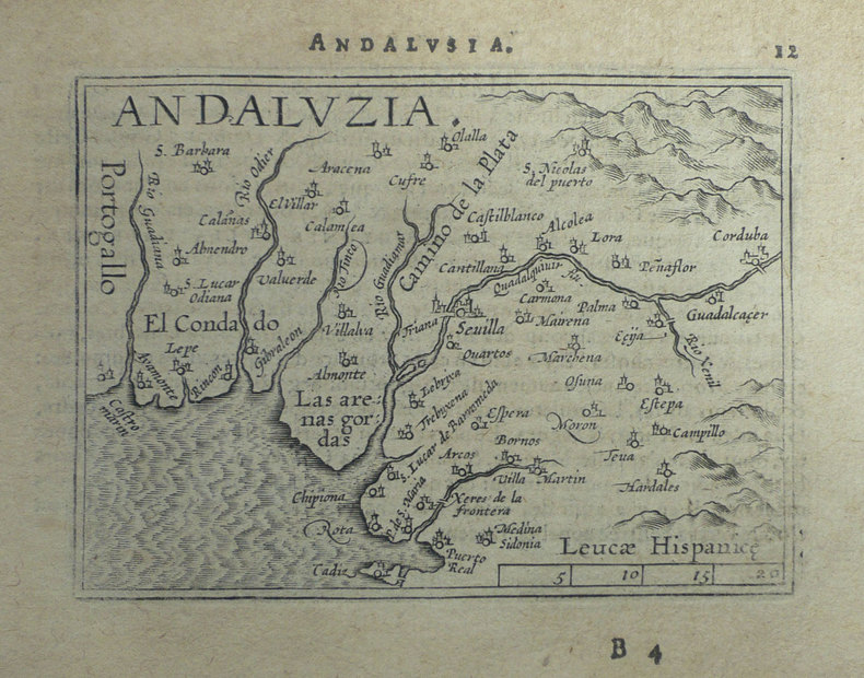 [ANDALOUSIE] Andaluzia.. ORTELIUS (Abraham);