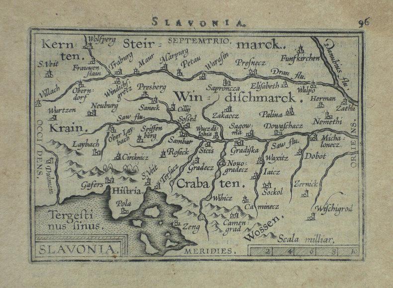 [CROATIE] Slavonia.. ORTELIUS (Abraham);