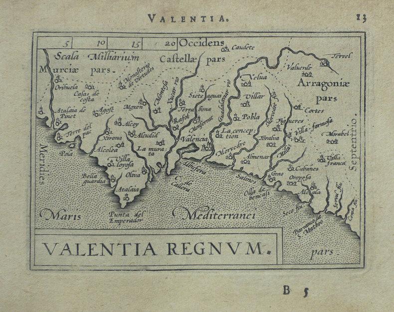 [VALENCE] Valentia regnum.. ORTELIUS (Abraham);