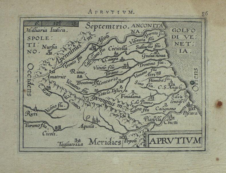 [ABRUZZES] Aprutium.. ORTELIUS (Abraham);