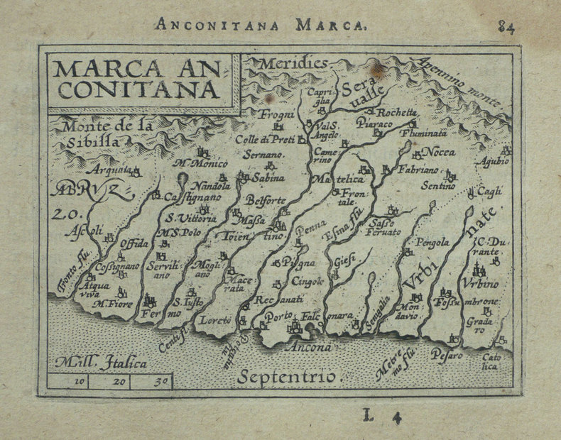 [ANCONE] Marca Anconitana.. ORTELIUS (Abraham);