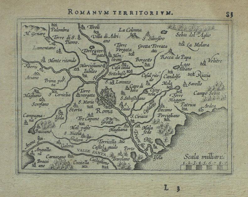 [ROME] Romanum territorium.. ORTELIUS (Abraham);