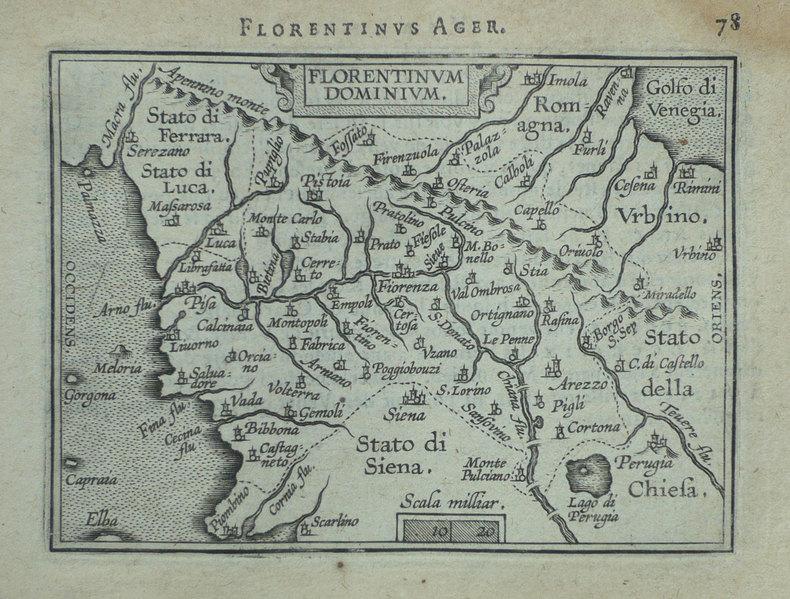 [FLORENCE] Florentinum dominium.. ORTELIUS (Abraham);