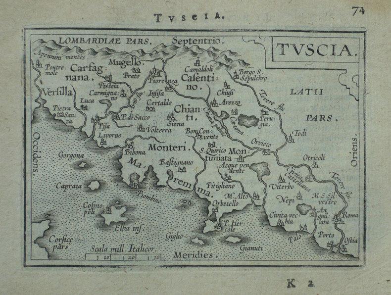 [TOSCANE] Tuscia.. ORTELIUS (Abraham);