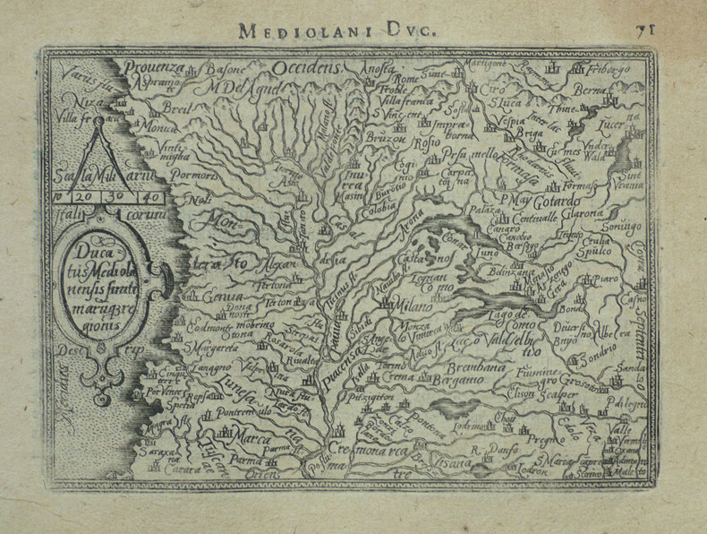 [MILANAIS] Ducatus Mediolanensis finitimarumq regionis.. ORTELIUS (Abraham);