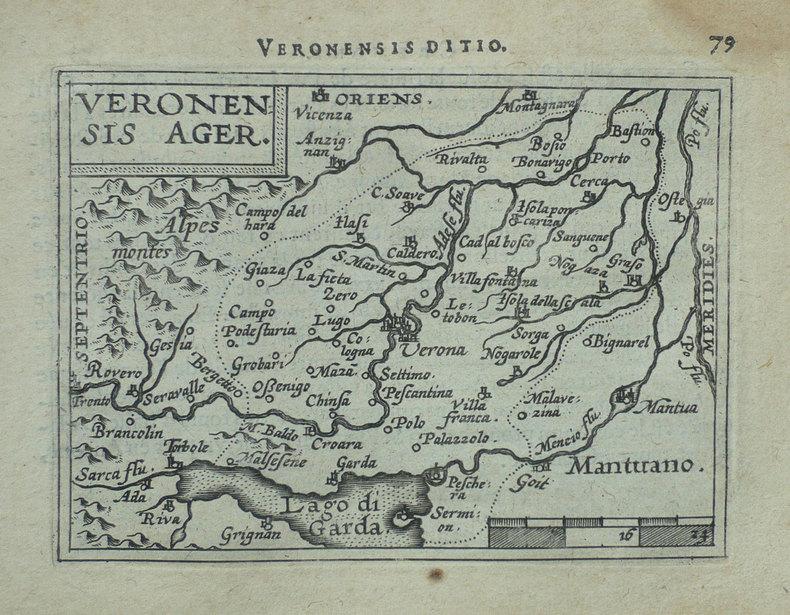 [VERONE] Veronensis ager.. ORTELIUS (Abraham).