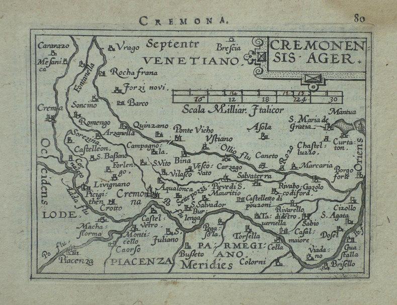 [CREMONE] Cremonensis ager.. ORTELIUS (Abraham);