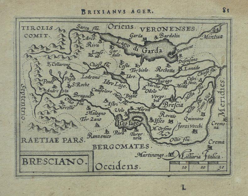 [BRESCIA] Bresciano.. ORTELIUS (Abraham);