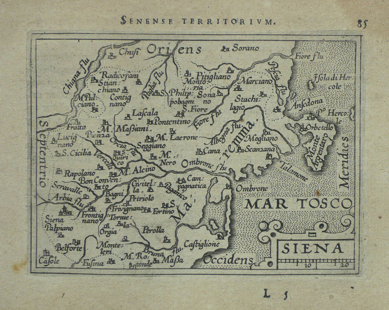 [SIENNE] Siena.. ORTELIUS (Abraham);