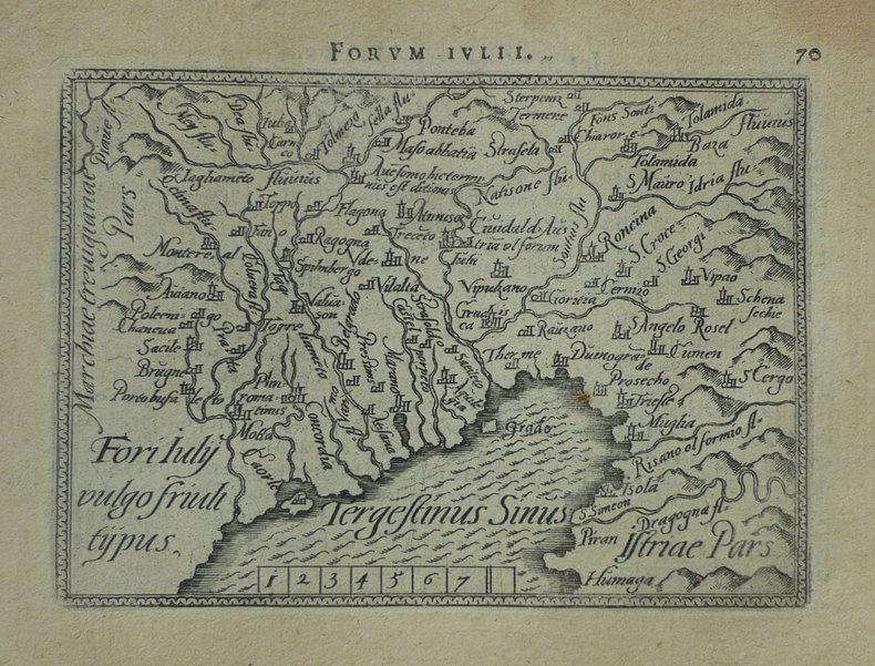[FRIOUL] Fori Iuly vulgo Friuli typus.. ORTELIUS (Abraham);