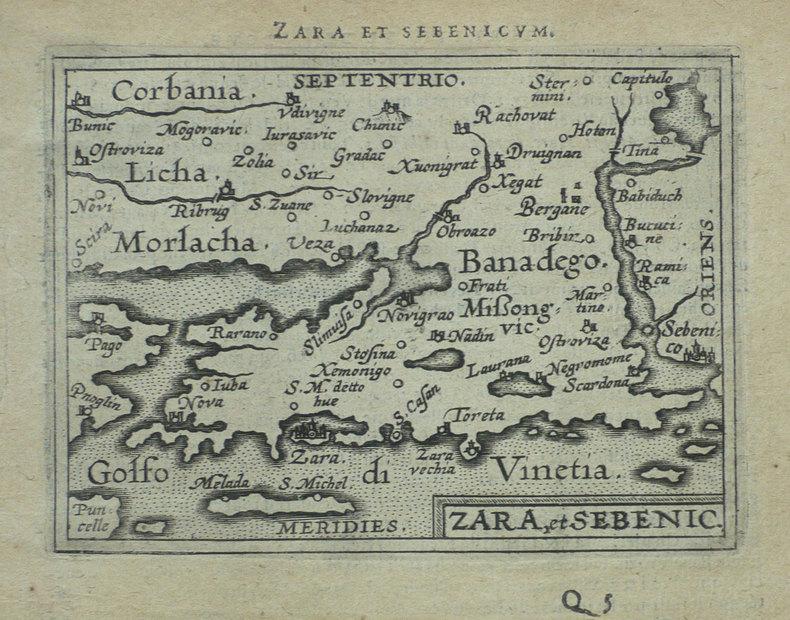 [CROATIE] Zara et Sebenico.. ORTELIUS (Abraham);