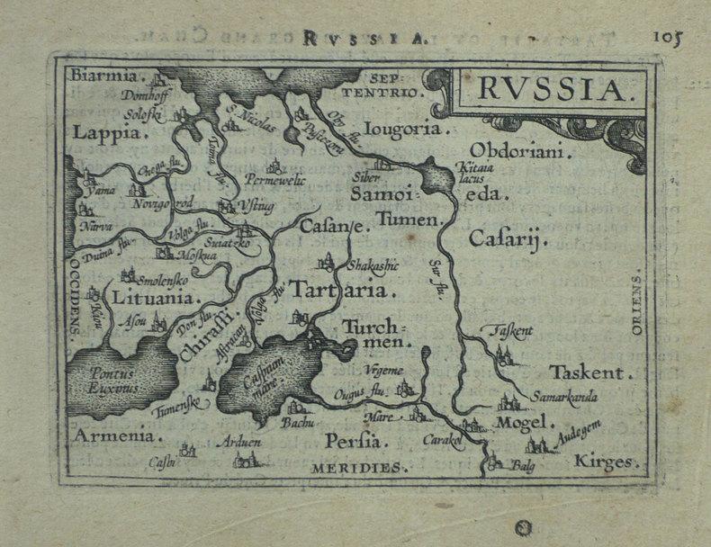 Russia.. ORTELIUS (Abraham).