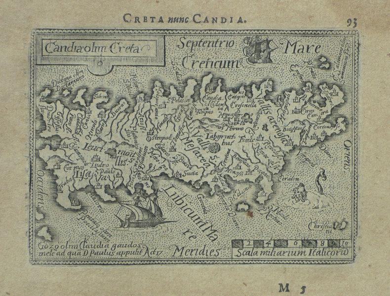 [CRETE] Candia olim Creta.. ORTELIUS (Abraham);
