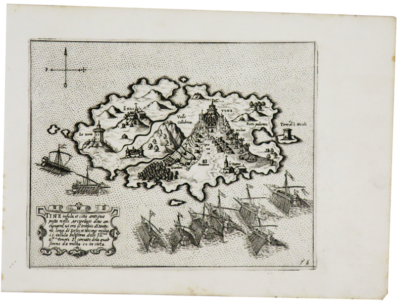 [TINOS] Tine insula et città antiqua posta nello arcipelago.. CAMOCIO (Giovanni Francesco).