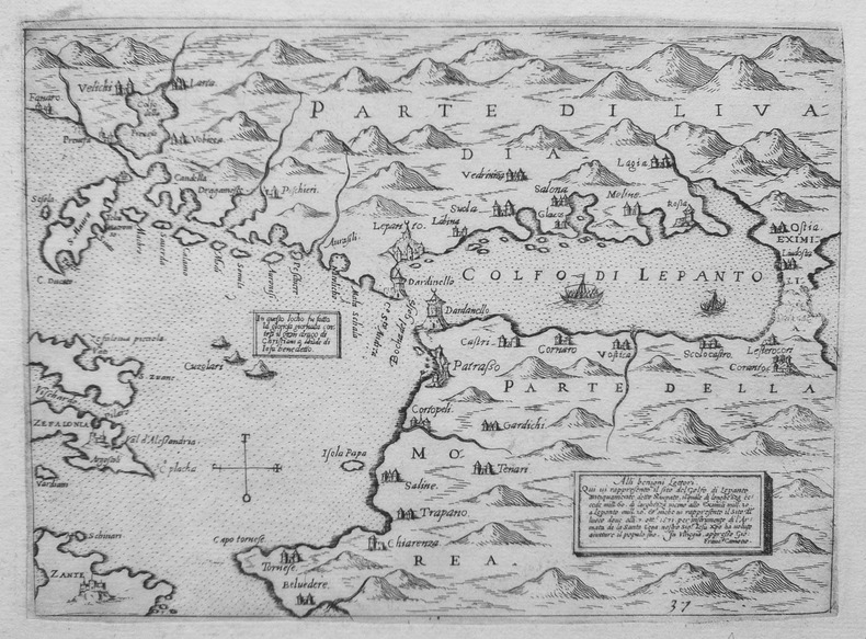 [GOLFE DE PATRA] [Golfo di Lepanto].. CAMOCIO (Giovanni Francesco).