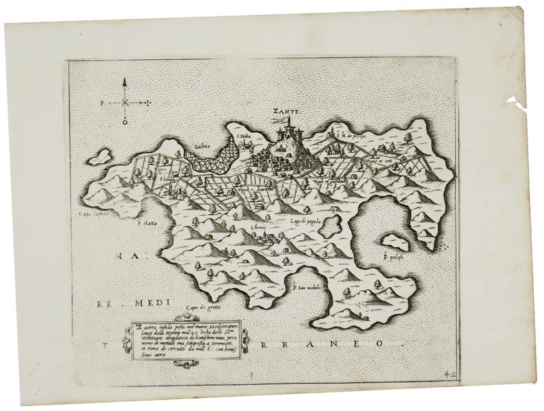 [ZAKYNTHOS] Zante insula posta nel mare Mediteraneo.. CAMOCIO (Giovanni Francesco).