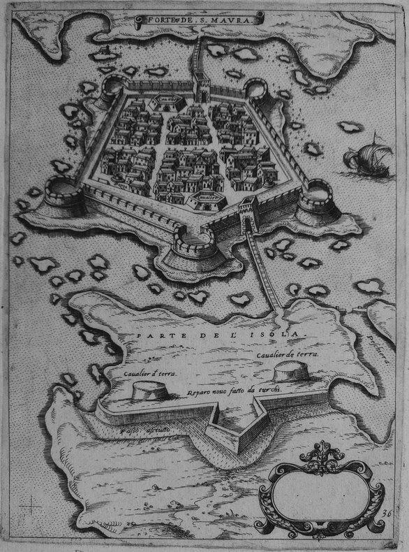 [LEUCADE] Forteza de S. Maura.. CAMOCIO (Giovanni Francesco).