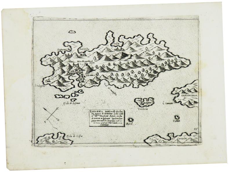 [CROATIE] Liesena insula nella Dalmatia.. CAMOCIO (Giovanni Francesco).