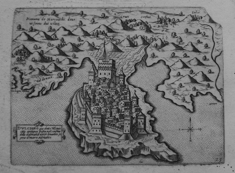 [MONTENEGRO/ULCINJ] Dulcigno già detto Ulcinio città antiqua posta nel confine della Dalmatia.. CAMOCIO (Giovanni Francesco).
