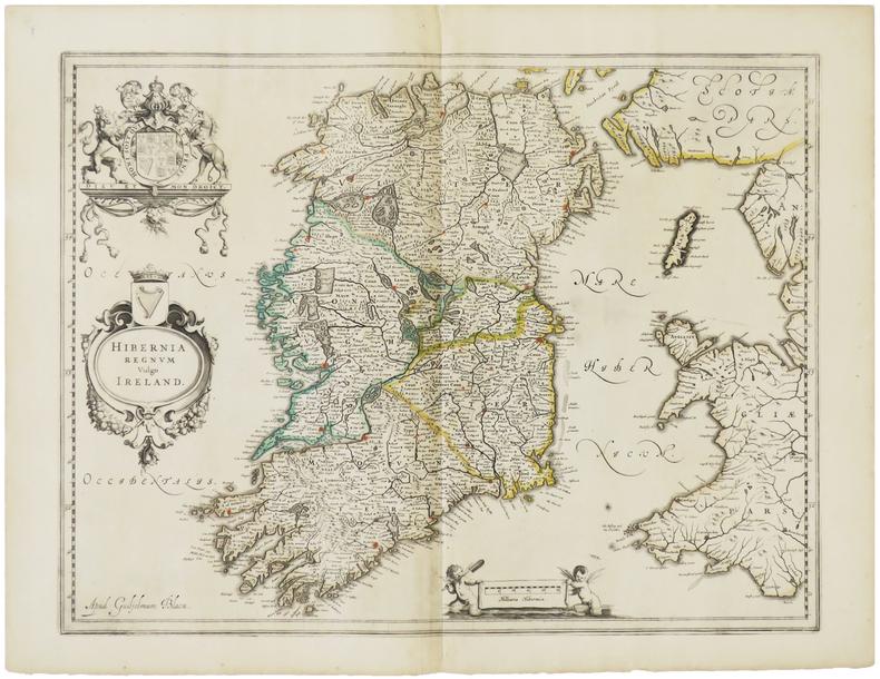 [IRLANDE] Hibernia regnum vulgo Ireland.. BLAEU (Willem).
