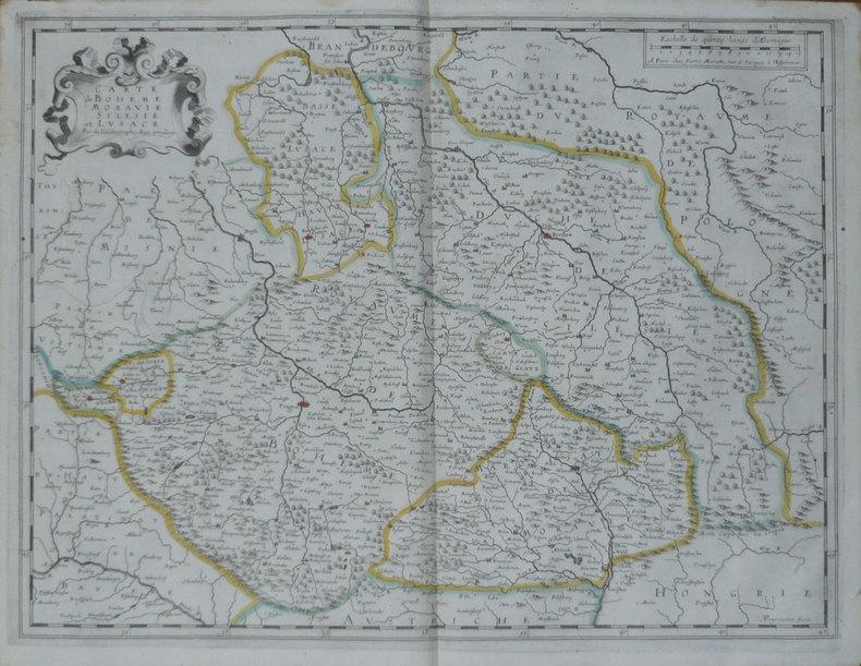 [REPUBLIQUE TCHEQUE] Carte de Bohême Moravie Silésie et Lusace.. DUVAL (Pierre);