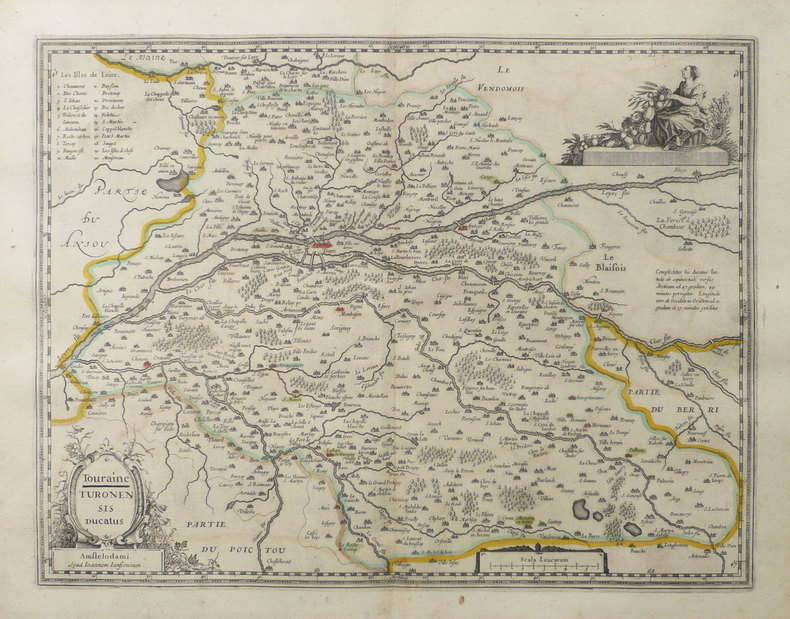 [TOURAINE] Touraine - Turonensis ducatus.. JANSSON (Joannes);