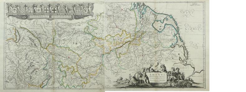 [RHIN] Rhenus fluviorum Europae celeberrimus cim Mosa Mosella.. DANCKERTS (Cornelis);