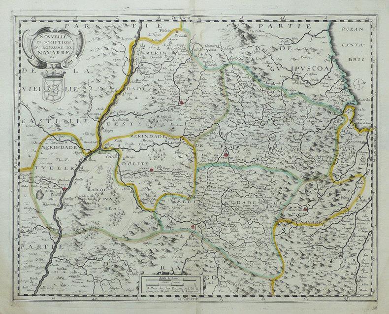 [NAVARRE] Nouvelle description du royaume de Navarre.. BOISSEAU (Jean).
