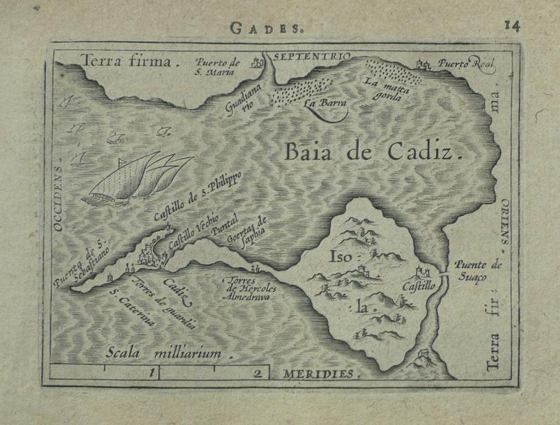 [CADIX] Gades.. ORTELIUS (Abraham);