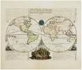 Mappe-monde pour connoitre les progrès & les conquestes les plus remarquables des Provinces-Unies, ainsy que celles des Compagnies d'Orient et ...